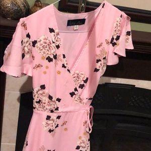 Beautiful Pink Wrap Dress From Francesca's